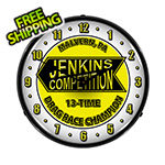 Collectable Sign and Clock Jenkins Competition Backlit Wall Clock