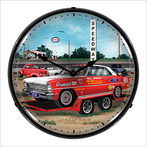 Jenkins 1966 Nova Backlit Wall Clock