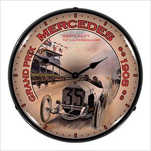 Grand Prix Mercedes Backlit Wall Clock