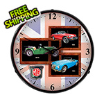 Collectable Sign and Clock MG Backlit Wall Clock
