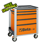 Beta Tools 5-Drawer Rolling Tool Cabinet (Orange)