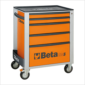 5-Drawer Rolling Tool Cabinet (Orange)