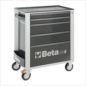 5-Drawer Rolling Tool Cabinet (Grey)