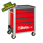 Beta Tools 5-Drawer Rolling Tool Cabinet (Red)