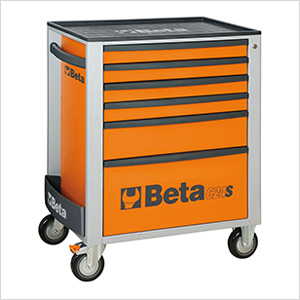 6-Drawer Rolling Tool Cabinet (Orange)