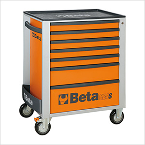 7-Drawer Rolling Tool Cabinet (Orange)