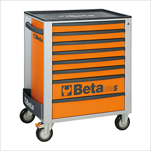 8-Drawer Rolling Tool Cabinet (Orange)