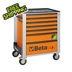 Beta Tools 7-Drawer Anti-Tilt Rolling Tool Cabinet (Orange)