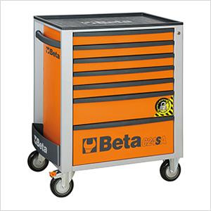 7-Drawer Anti-Tilt Rolling Tool Cabinet (Orange)