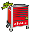 Beta Tools 7-Drawer Anti-Tilt Rolling Tool Cabinet (Red)