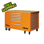 Beta Tools 28-Drawer Mobile Workstation (Orange)