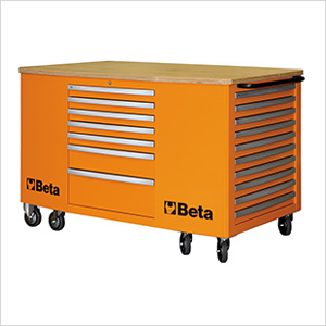 28-Drawer Mobile Workstation (Orange)