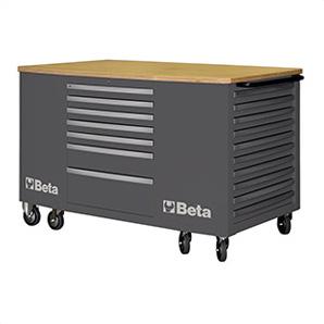 28-drawer Mobile Workstation (grey)