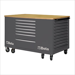 28-Drawer Mobile Workstation (Grey)