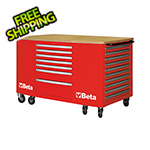 Beta Tools 28-Drawer Mobile Workstation (Red)