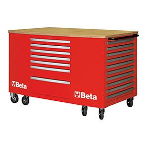 28-drawer Mobile Workstation (red)