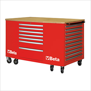 28-Drawer Mobile Workstation (Red)