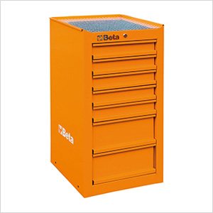 7-Drawer Side Cabinet (Orange)