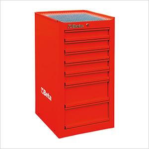 7-Drawer Side Cabinet (Red)