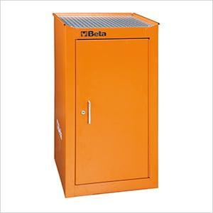 Side Cabinet with 1 Shelf (Orange)