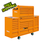 Beta Tools 33-Drawer Rolling Tool Cabinet (Orange)