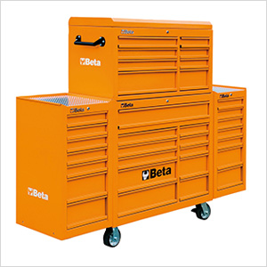 33-Drawer Rolling Tool Cabinet (Orange)