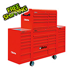 Beta Tools 33-Drawer Rolling Tool Cabinet (Red)