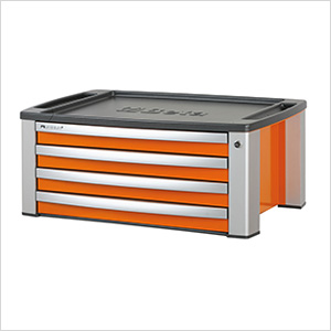 4-Drawer Aluminum Tool Chest (Orange)
