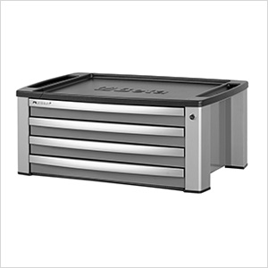 4-Drawer Aluminum Tool Chest (Grey)