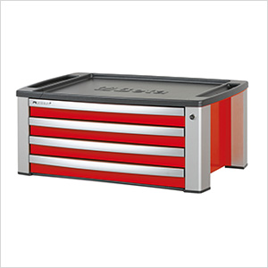 4-Drawer Aluminum Tool Chest (Red)
