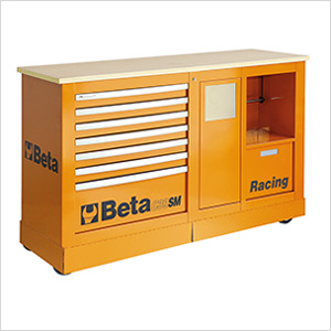 Mobile Racing Roller Cabinet with Worktop