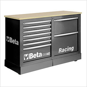 Mobile Racing Rolling Cabinet with Worktop
