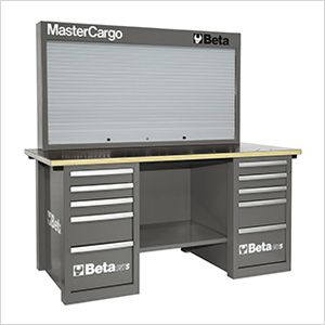MasterCargo 10-Drawer Workbench with Back Panel