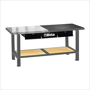 3-Drawer Dual-Top Workbench