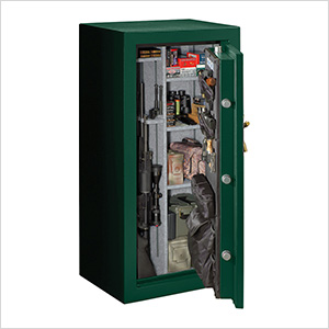 Elite Fire-Resistant 40-Gun Safe with Combination Lock