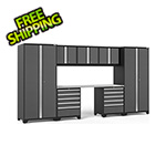 NewAge Garage Cabinets PRO Series 3.0 Grey 8-Piece Set with Stainless Steel Top