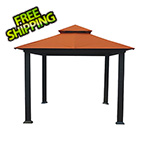 Paragon Outdoor 10 x 10 ft. Savannah Gazebo with Sunbrella Canopy (Rust Top)