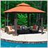 10 x 10 ft. Savannah Gazebo with Sunbrella Canopy (Rust Top)