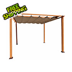 Paragon Outdoor 11 x 11 ft. Florence Pergola (Canadian Wood / Cocoa Canopy)