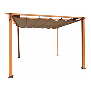 11 x 11 ft. Florence Pergola (Canadian Wood / Cocoa Canopy)