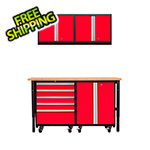 NewAge Products PRO Series 3.0 Red 5-Piece Set with Bamboo Workbench