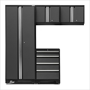 BOLD Series 3.0 Grey 4 Piece Garage Cabinet Set