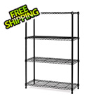 Seville Classics 4-Shelf Steel Wire Shelving System