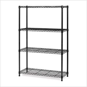 4-Shelf Steel Wire Shelving System