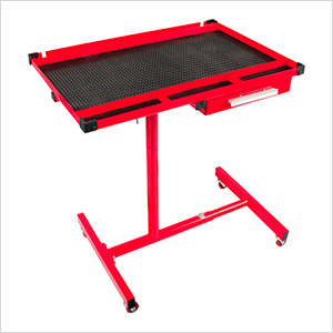 Heavy Duty Adjustable Work Table with Drawer (Red)