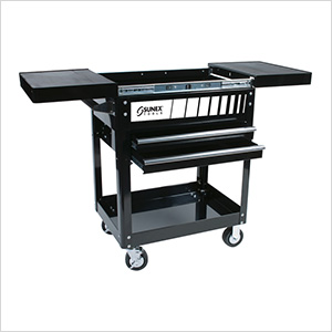 Compact Slide Top Utility Cart (Black)