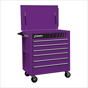 Full Drawer Professional Duty Service Cart (Purple)