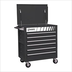 Full Drawer Professional Duty Service Cart (Matte Black)