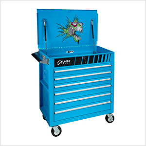 Full Drawer Professional Duty Service Cart (Nitro Blue)