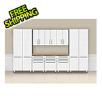 "Ulti-MATE Cabinets 9-Piece ""Exclusive"" Garage Cabinet Kit with Bamboo Worktop"